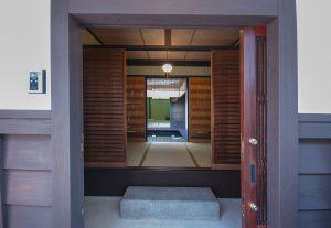 都島の新築町家 玄関