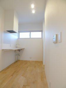 2階部分のキッチン